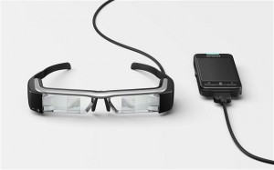 The Epson Moverio BT-200 smart glasses